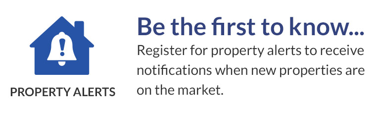 Get alerts about properties direct to your inbox