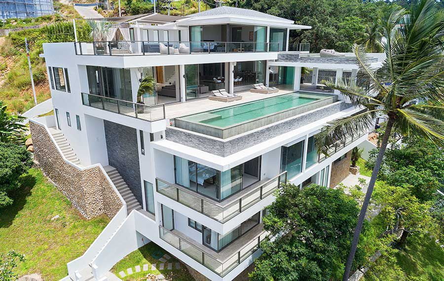 Magnificent 6-Bed Ocean View Designer Villa, Chaweng Noi