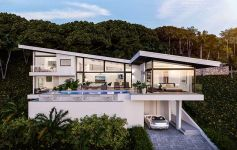 Contemporary 3-Bed Sea View Pool Villa, Gated Estate, Choeng Mon