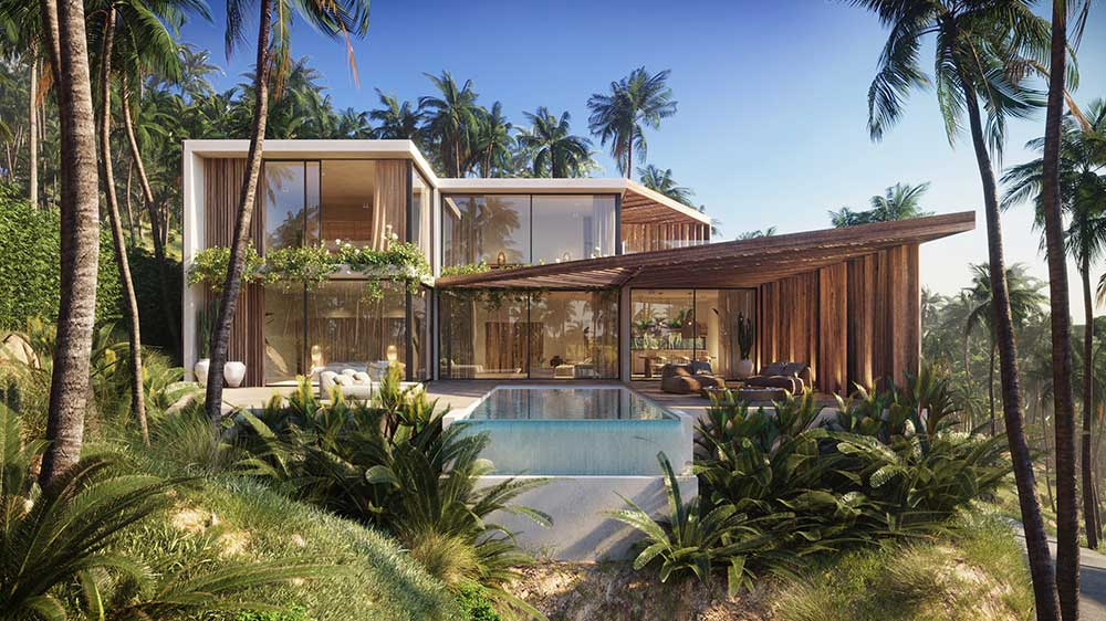 Istani Villas - Contemporary Sea View Eco-Style Properties, Chaweng