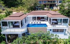 2-Level 4-Bedroom Ocean View Villa, South Lamai