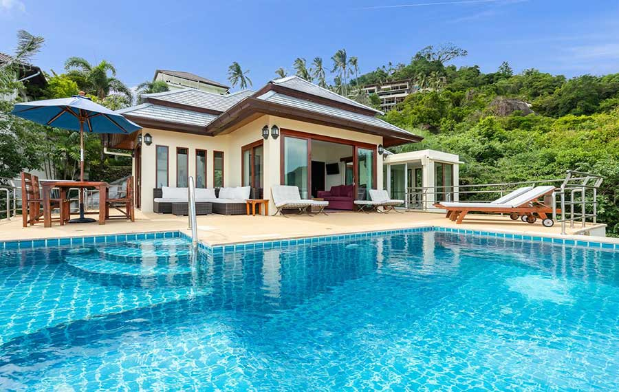 Detached 4-Bed Sea View Pool Villa, Lamai