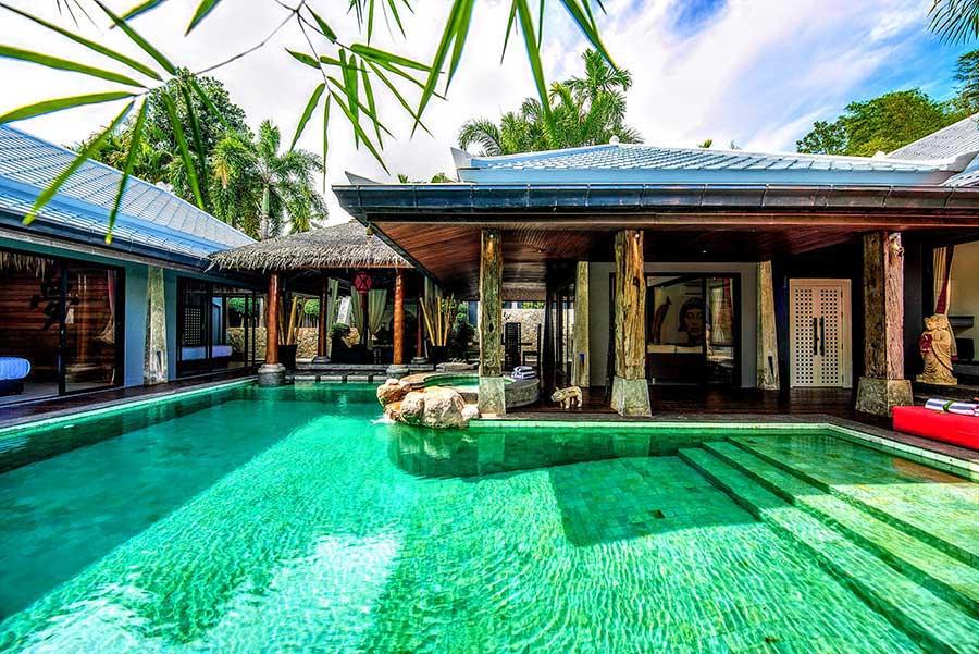 Koh Samui Property For Sale 3 Bed Single Level Bali Style Pool Villa Bo Phut