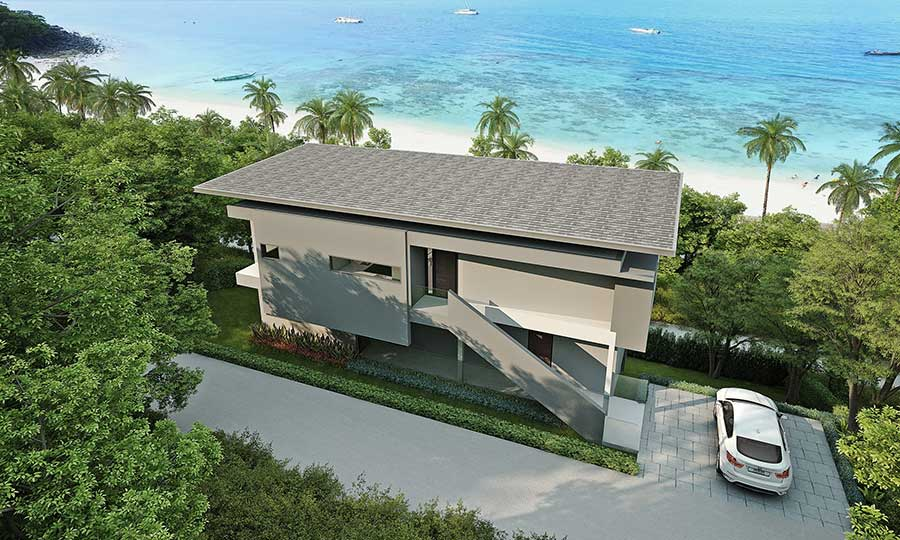 Contemporary 3-Bed Bay View Villas, Chaweng Noi