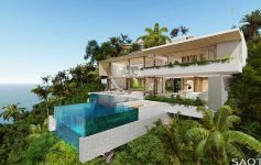 Cutting-Edge 5-Bed Bay View Villa, Chaweng Noi