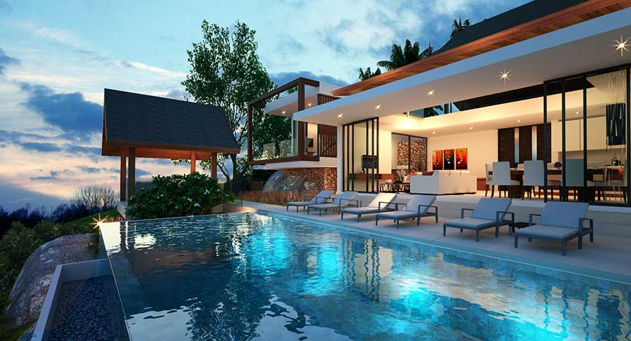 Koh Samui Property For Sale Sea View Resort Villas 3 4 And 5