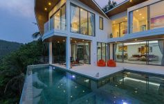 Spectacular Modern 3-Bed Bay View Villa, Chaweng Noi