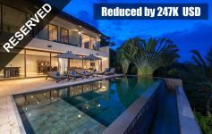 REDUCED BY 247K USD: Deluxe 3-Bed Sea View Villa, Chaweng Noi