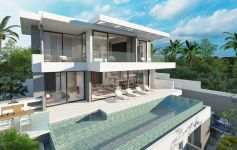 Contemporary Development of 3-Bed Sea View Pool Villas, Chaweng Hillside