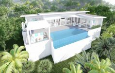 Modern Single Level 3-Bed Sea View Pool Villas, Bo Phut
