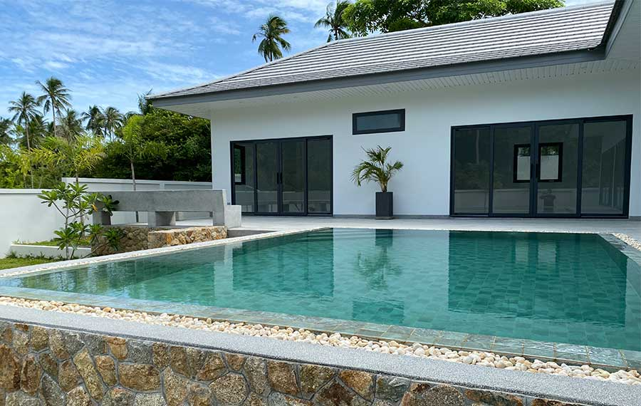 Modern 3-Bed Garden Pool Villas, Maenam