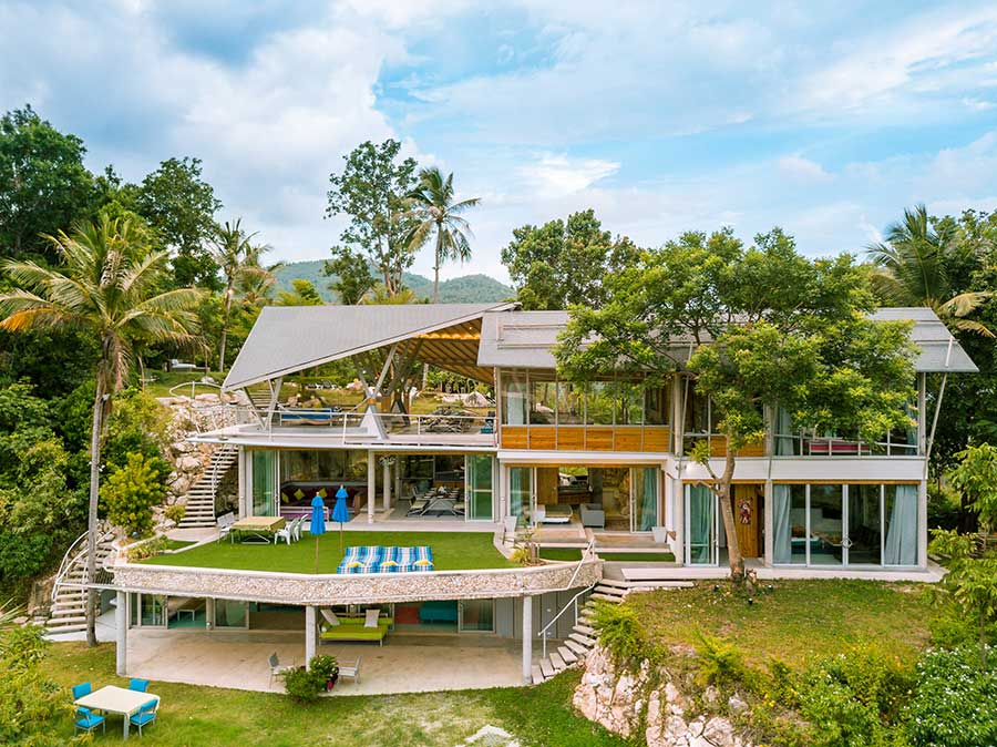 Spectacular Contemporary 5-Bed Hilltop Villa, Taling Ngam – 9,000 sqm of Prime Hilltop Land