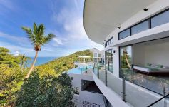 Contemporary Deluxe 5-Bed Bay View Villa, Chaweng Noi