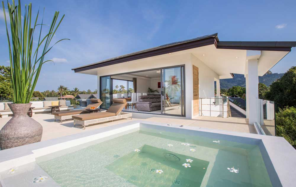 Koh Samui Property For Rent   6 Bedroom Contemporary Asian Villa By  Secluded Beach