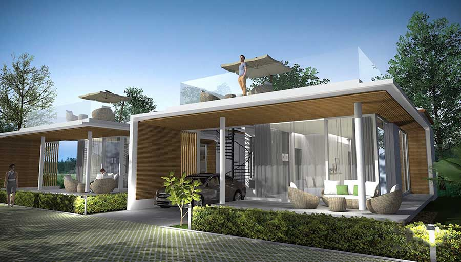 Modern 2-Bed Villas, Maenam